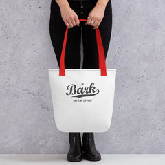 The Bark Script Fabric Tote
