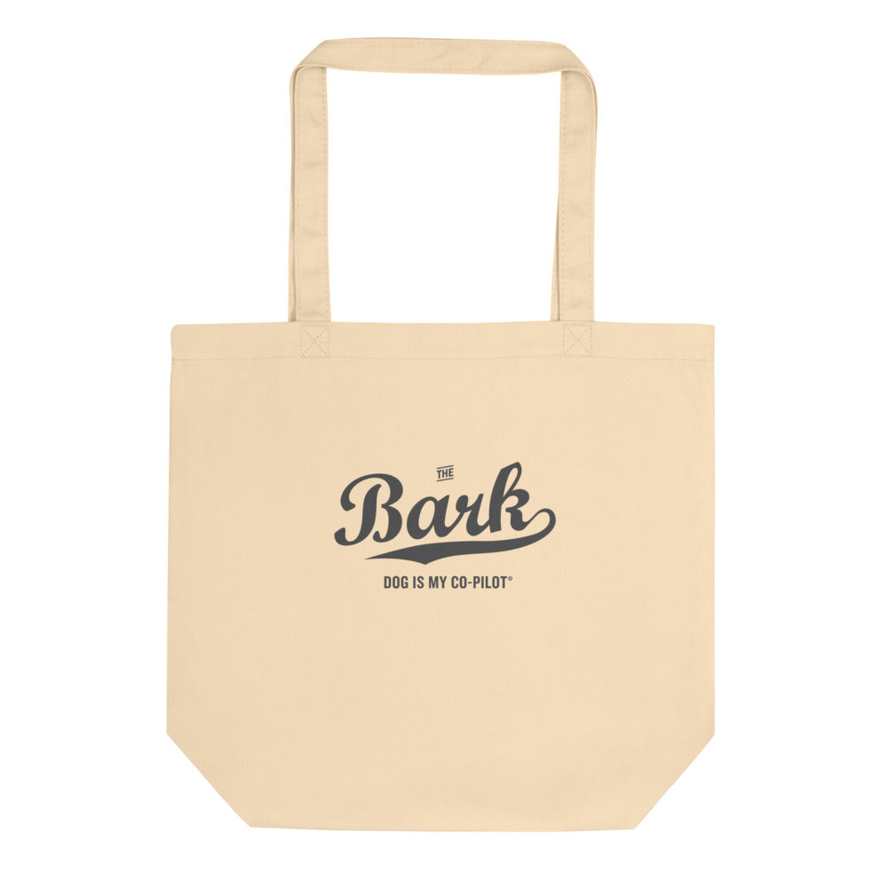 Bark Script Canvas Tote
