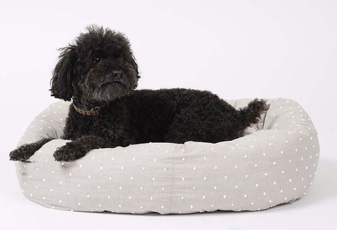 Snuggle Time Polka Dot Dog Beds