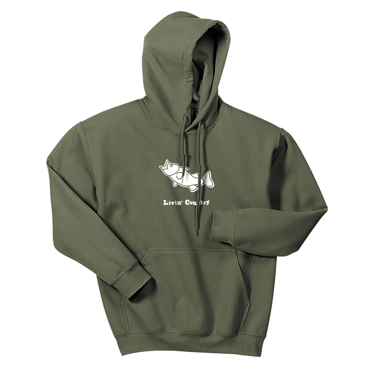 Adult Livin' Country Bass Hoodie - Livin' Country Apparel & Accessories  - 1