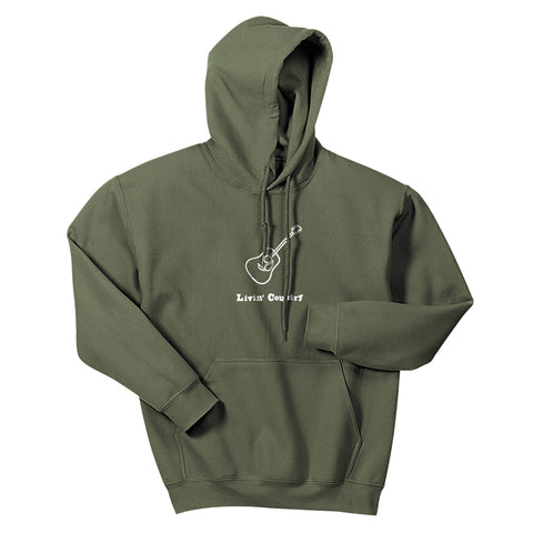 Adult Livin' Country Guitar Hoodie - Livin' Country Apparel & Accessories  - 3