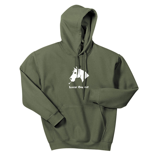 Adult Livin' Country Horse Hoodie - Livin' Country Apparel & Accessories  - 3