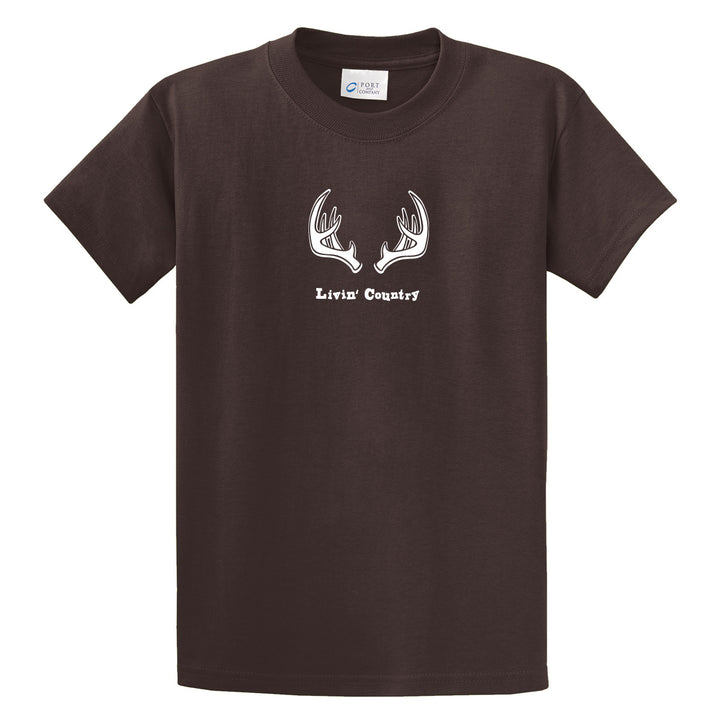 Adult Livin' Country Antler T-shirt - Livin' Country Apparel & Accessories  - 1