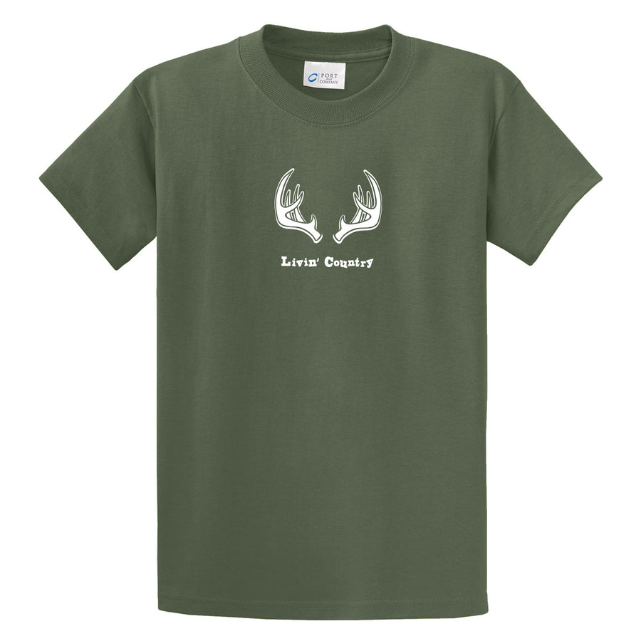 Adult Livin' Country Antler T-shirt - Livin' Country Apparel & Accessories  - 3