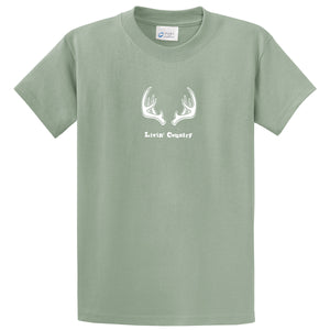 Adult Livin' Country Antler T-shirt - Livin' Country Apparel & Accessories  - 5