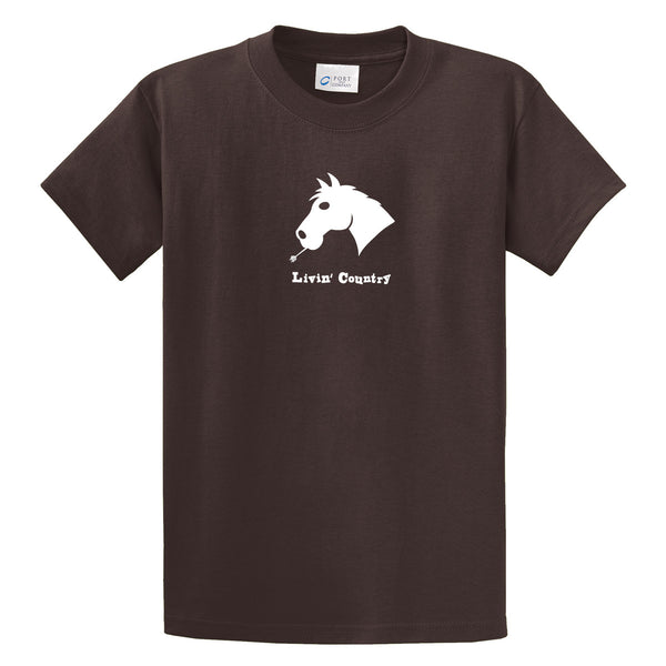Adult Livin' Country Horse T-shirt - Livin' Country Apparel & Accessories  - 3