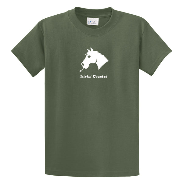 Adult Livin' Country Horse T-shirt - Livin' Country Apparel & Accessories  - 5