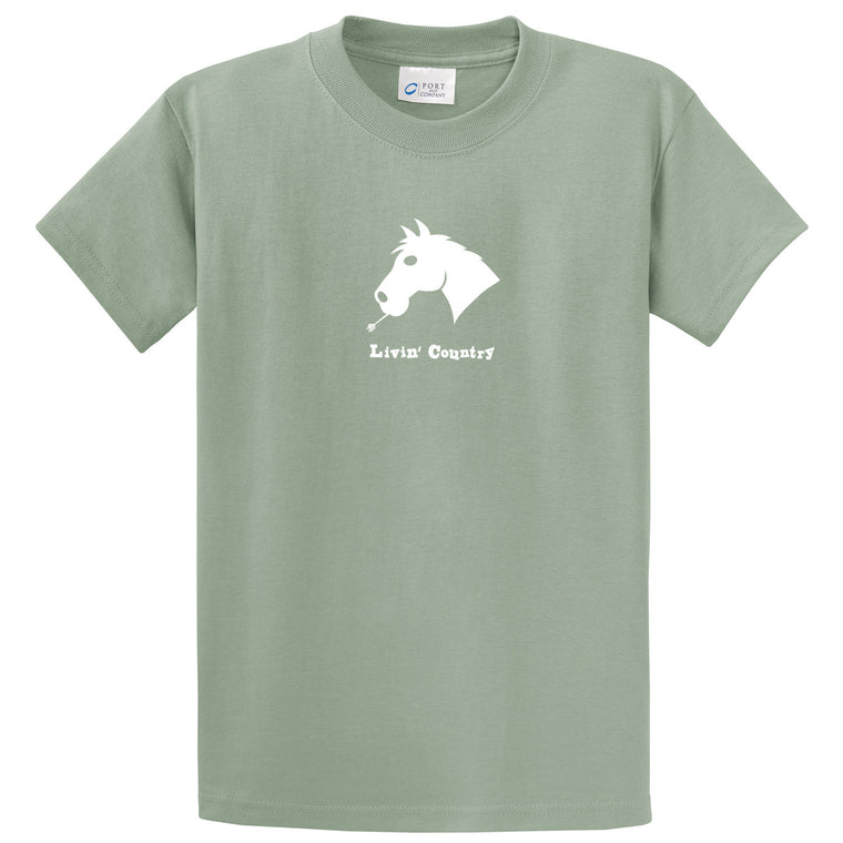 Adult Livin' Country Horse T-shirt