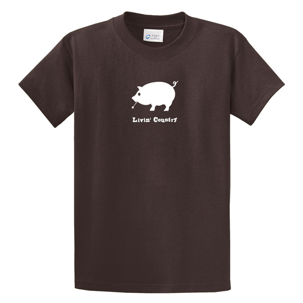 Adult Livin' Country Pig T-shirt - Livin' Country Apparel & Accessories  - 3