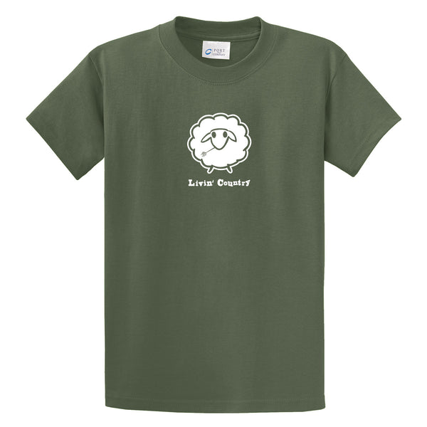 Adult Livin' Country Sheep T-shirt - Livin' Country Apparel & Accessories  - 3