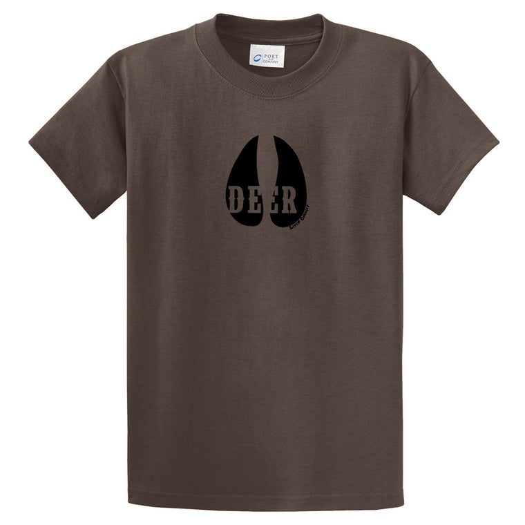 Adult Livin' Country Deer Track T-shirt