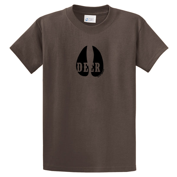 Adult Livin' Country Deer Track T-shirt - Livin' Country Apparel & Accessories  - 1