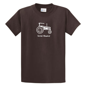 Adult Livin' Country Tractor T-shirt - Livin' Country Apparel & Accessories  - 3