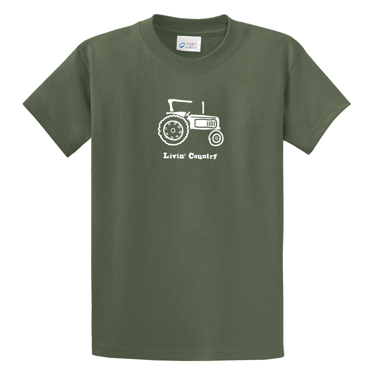 Adult Livin' Country Tractor T-shirt - Livin' Country Apparel & Accessories  - 1