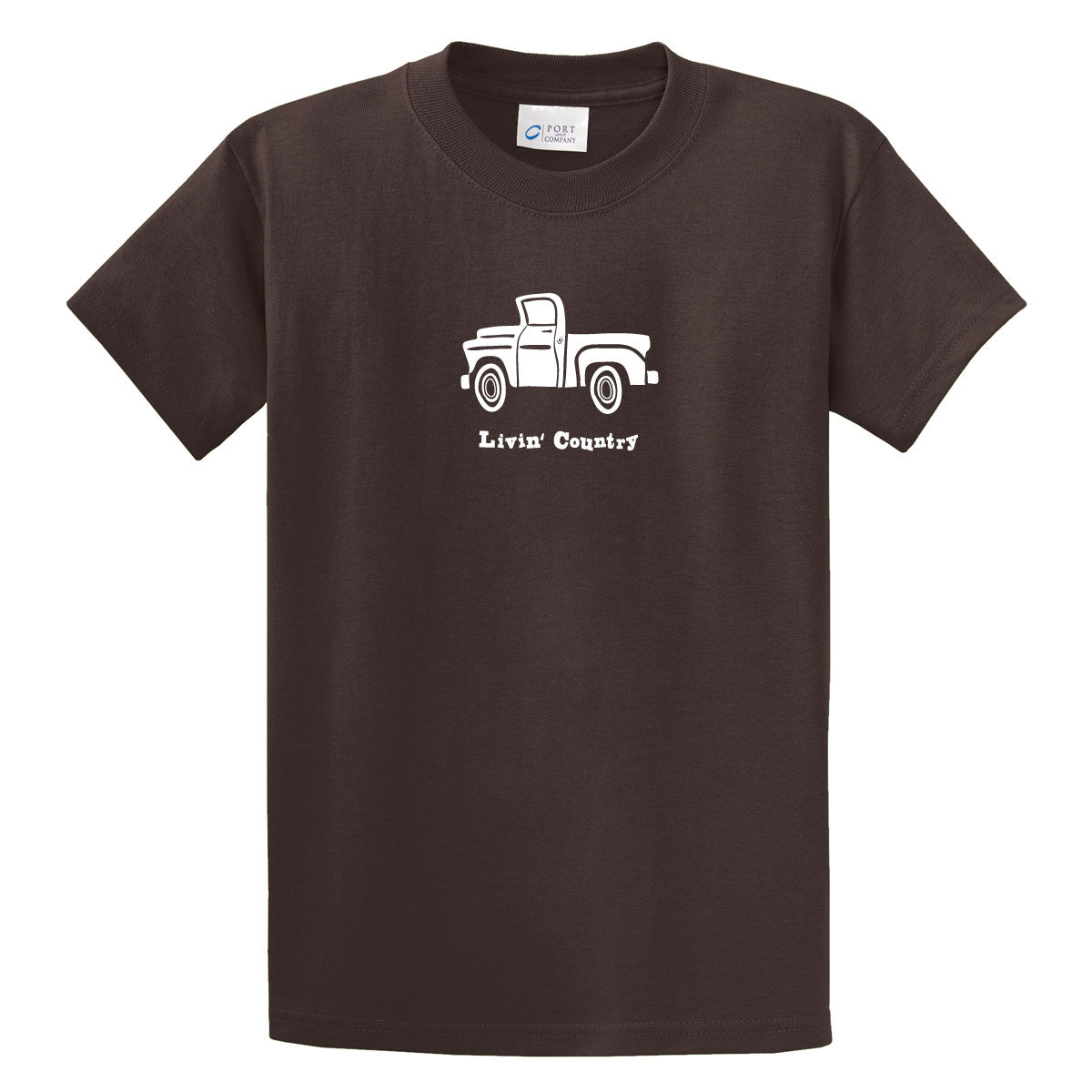 Adult Livin' Country Truck T-shirt - Livin' Country Apparel & Accessories  - 1
