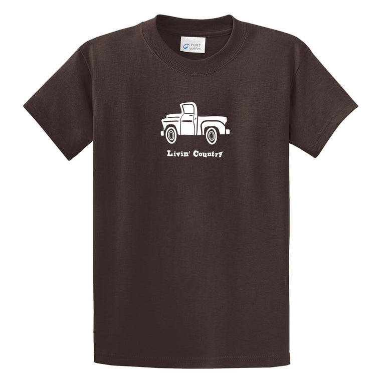 Adult Livin' Country Truck T-shirt