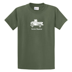 Adult Livin' Country Truck T-shirt - Livin' Country Apparel & Accessories  - 3