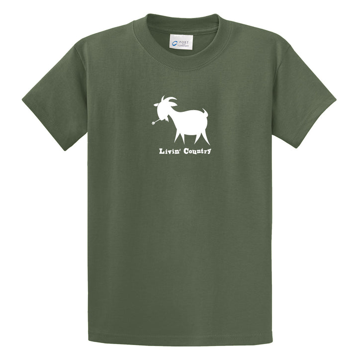 Adult Livin' Country Goat T-shirt - Livin' Country Apparel & Accessories  - 1
