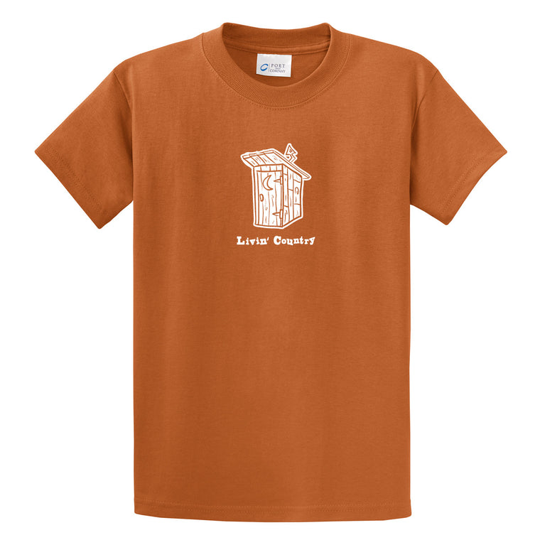 Adult Livin' Country Outhouse T-shirt