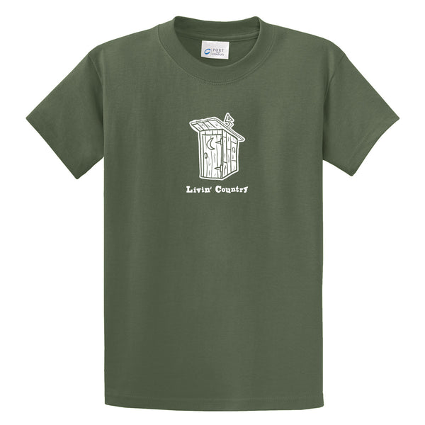 Adult Livin' Country Outhouse T-shirt - Livin' Country Apparel & Accessories  - 3