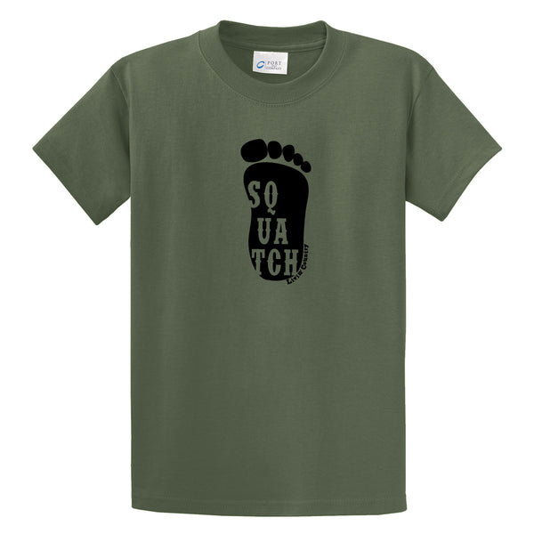 "Adult Livin' Country Sasquatch ""Squatch"" Track T-shirt - Livin' Country Apparel & Accessories  - 3"