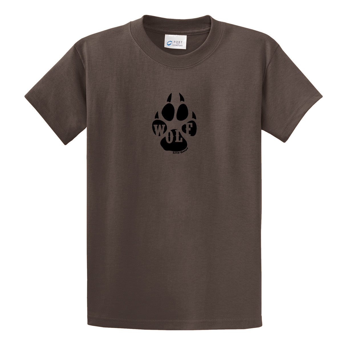 Adult Livin' Country Wolf Track T-shirt - Livin' Country Apparel & Accessories  - 1