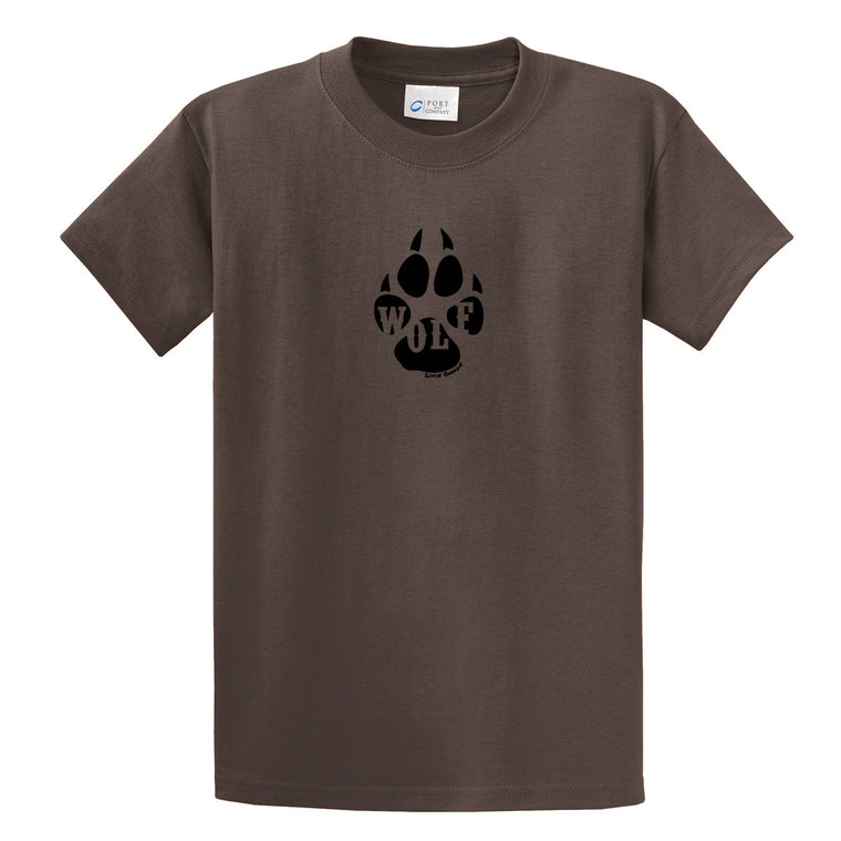 Adult Livin' Country Wolf Track T-shirt