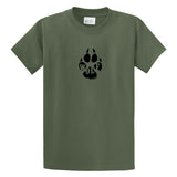 Adult Livin' Country Wolf Track T-shirt - Livin' Country Apparel & Accessories  - 3
