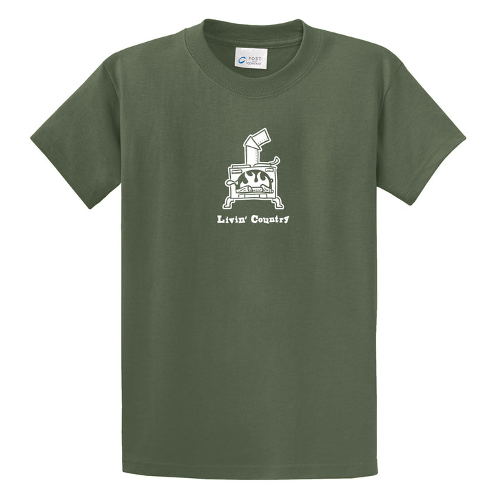 Adult Livin' Country Woodstove T-shirt - Livin' Country Apparel & Accessories  - 1