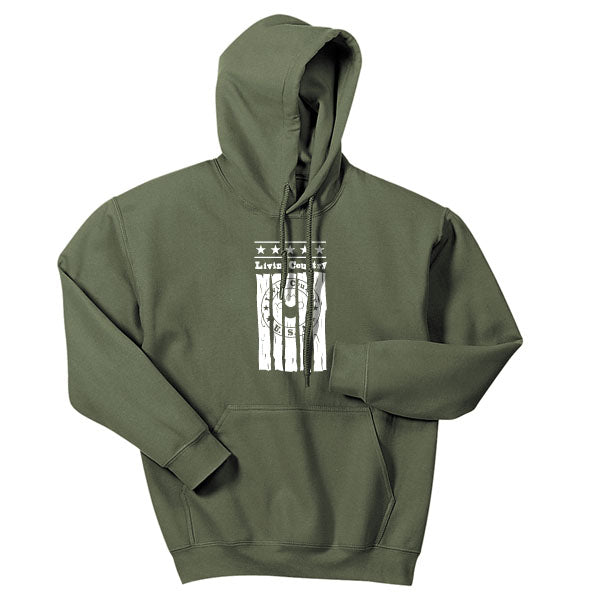 Adult Livin' Country Barn Board Hoodie