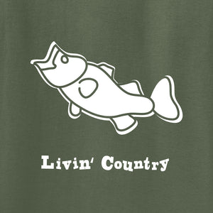 Adult Livin' Country Bass T-shirt