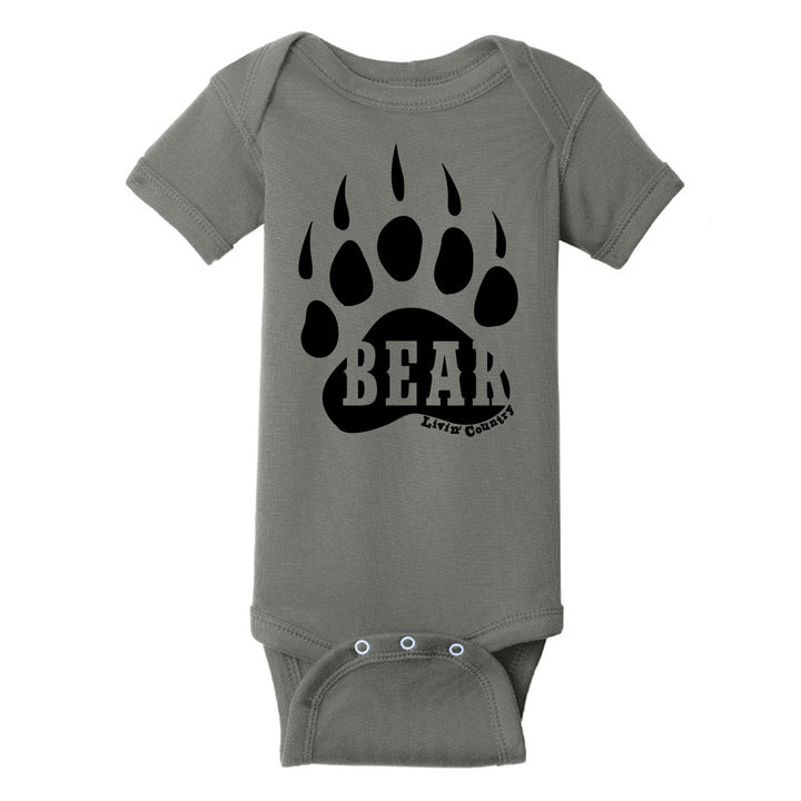 Infant Livin' Country Bear Track Onesie