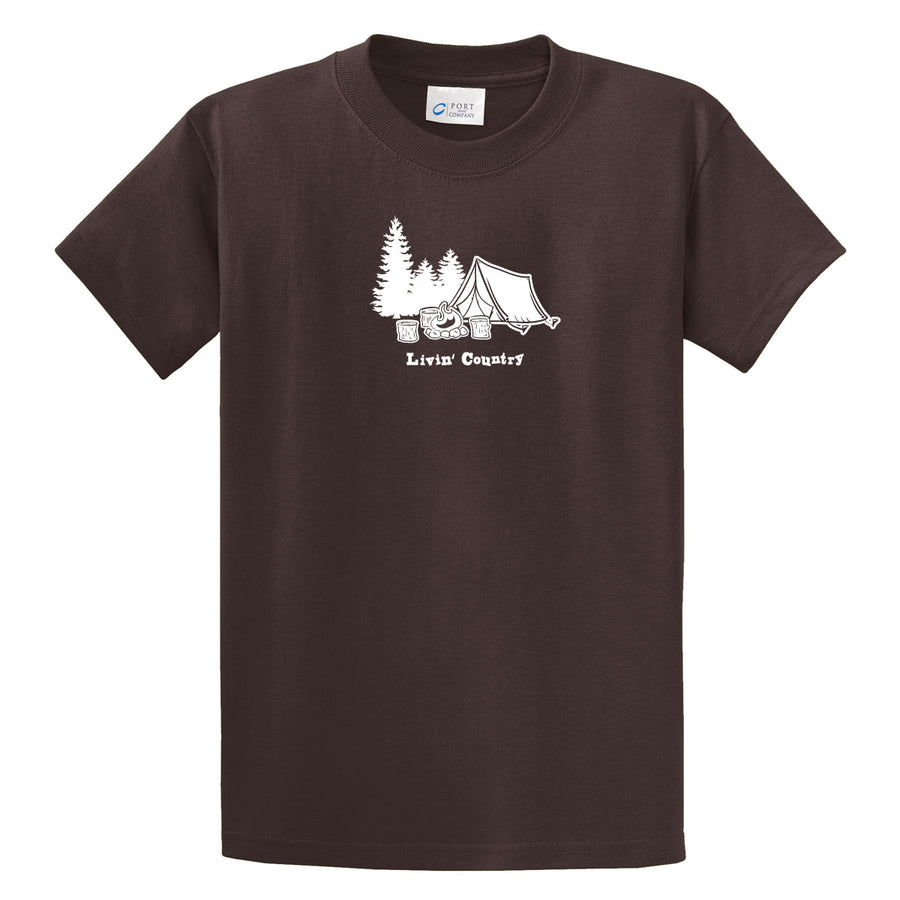 Adult Livin' Country Campsite T-shirt
