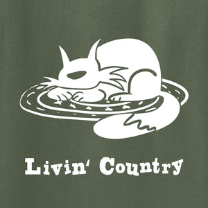 Adult Livin' Country Cat T-shirt