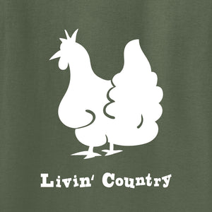 Adult Livin' Country Chicken T-shirt