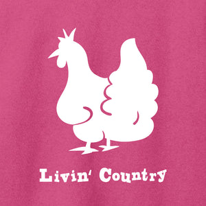 Women's Livin' Country Chicken T-shirt