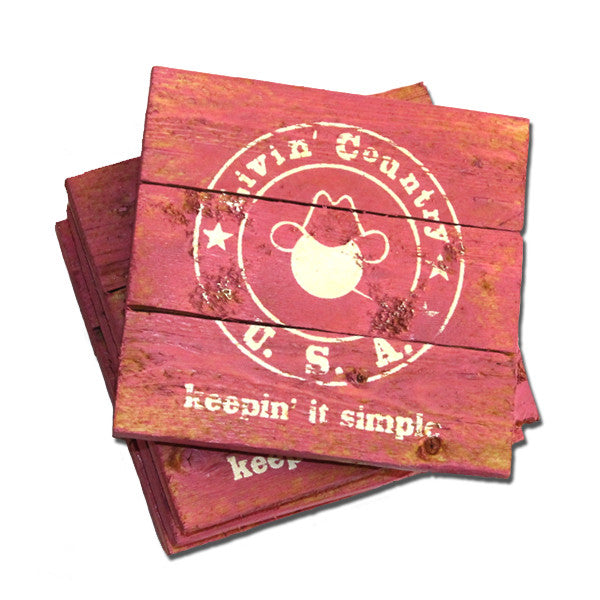 Wooden Drink Coasters - Livin' Country Apparel & Accessories  - 4