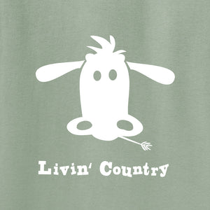 Adult Livin' Country Cow T-shirt