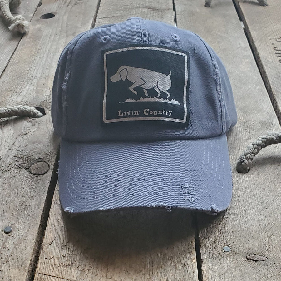 Livin' Country Dog Distressed Patch Hat
