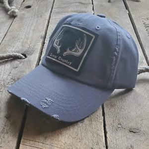 Livin' Country Antlers Distressed Patch Hat