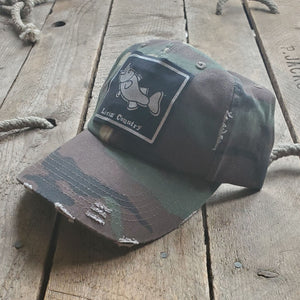 Livin' Country Bass Distressed Patch Hat