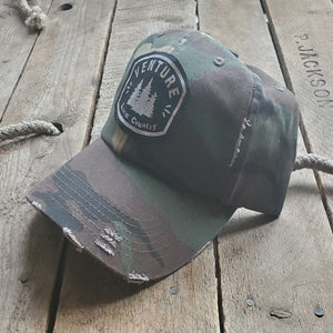 Livin' Country Venture Pine Distressed Patch Hat