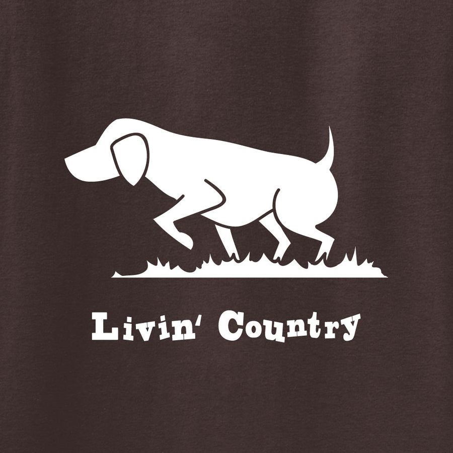 Adult Livin' Country Dog T-shirt