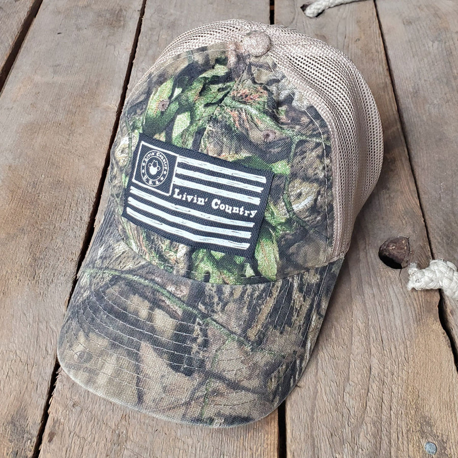 Livin' Country Flag Mesh Patch Hat