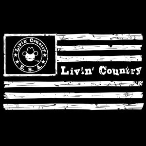 Livin' Country Flag Snapback Cap