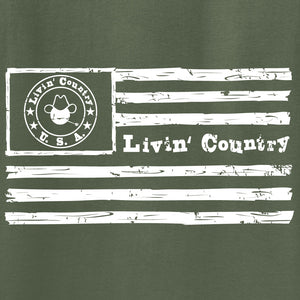 Adult Livin' Country Flag T-shirt
