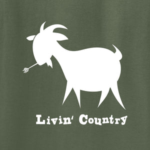 Adult Livin' Country Goat T-shirt