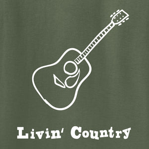 Adult Livin' Country Guitar Hoodie
