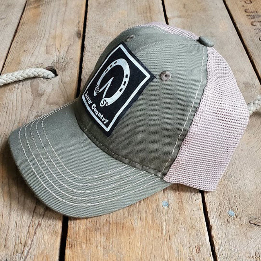 Livin' Country Horse Track Mesh Patch Hat