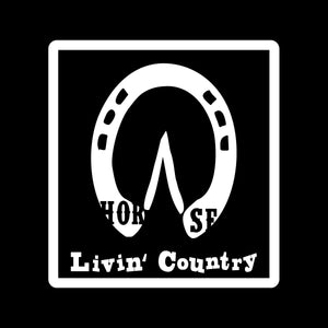 Livin' Country Horse Track Distressed Patch Hat
